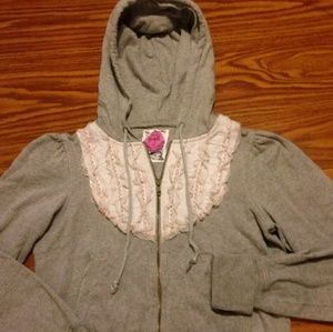 Free People zip up hoody size small